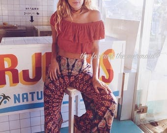 Mandala tapestry Bell Bottoms, Palazzo Pants, Retro pants, Bohemian style 70s bell bottoms, hippie chic pants, mandala tapestry clothing