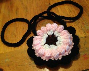 Crocheted Flower Coin Purse
