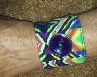 Cloth bracelet up-cycled