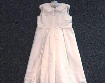 Charlotte beautiful handmade silk flowergirl dress