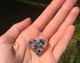 Bejeweled Heart Charm
