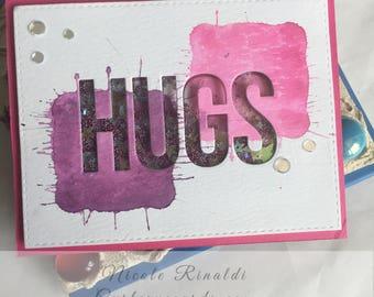 Hugs Shaker Note Card