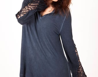 Lace hoodie dress