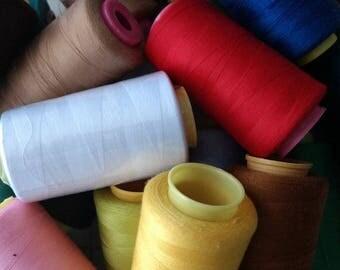 Thread, Sewing Thread, Over Lock Thread, Polyester All Purpose Thread, Sewing Supplies, Notions, Cone Thread ~ One Dozen