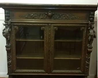 Victorian Buffet/Display Cabinet