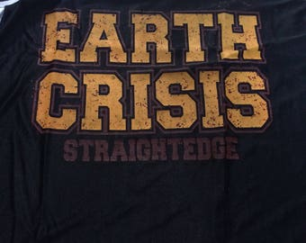 Vintage 90s earth crisis jersey xl size
