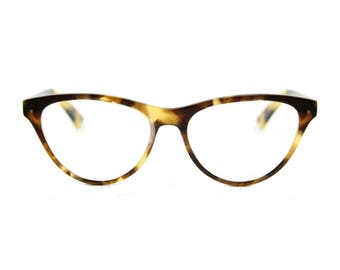 Stunning contemporary, sophistiCATed cat eye glasses. Hand made, flexible, lightweight and sexily serious 'AUDREY' Havana Brown
