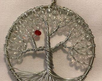 Beaded Tree of Life suncatcher