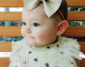 RTS- Bumblebee Baby Drool Bib- Baby bib, Boho drool bib, boho bib, baby accessories, drool bib, fringe bib, baby girl bib, baby shower gift