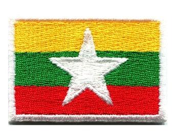 Myanmar Flag Patch W.Ch.Patch
