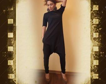 Black Jumpsuit/Loose Jumpsuit/Maxi black jumpsuit/Oversize jumpsuit/Black plus size jumpsuit/Woman loose jumpsuit/Extravagant jumpsuit