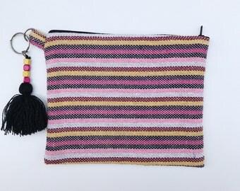 Serape clutch, Serape bag, Mexican clutch, Mexican bag, Serape purse, Mexican Zip pouch, Mexican purse, Boho clutch, Boho purse, Make up bag