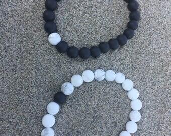 Distance Bracelets Couples Bracelet Set- Made to size