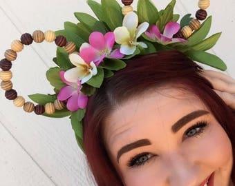 Moana Ears, Moana Mickey Ears, Hawaiian Mickey Ears, Aulani Mickey Ears, Moana, Disney, Disney Ears, Disneyland Ears