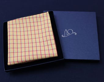 Yellow Organic Cotton Pocket Square