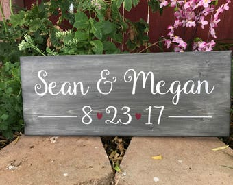 Couple Name Sign, Custom Wedding Sign, Custom Name Sign, Engagement Sign