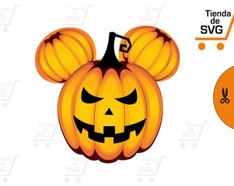 mickey svg, disney svg, haloween svg, svg calabaza, pumpkin svg,   vector files cut, silhouette, vector, svg file, clipart, cameo,
