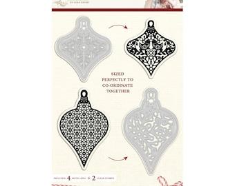 Sara Davies Scandinavian Christmas - Stylish Metal Paper Craft Die & Stamp Set