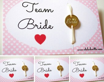 """Wristband """"Team Bride"""" ~ 4 ~ gold plated"""