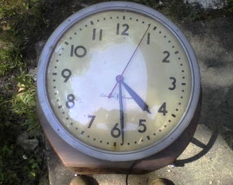Edwards Synchromatic Vintage Industrial School Clock Series N cat. no. 1962