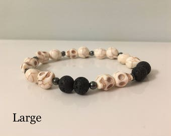Essential Oil Diffuser Bracelet -8mm beads and Lava Rocks