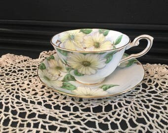 Vintage Dogwood Tea Cup Set by Royal Tuscan Fine English Bone China C9790