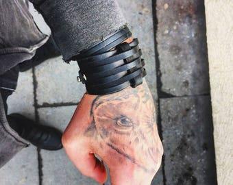 AGUILAR signature leather cuff