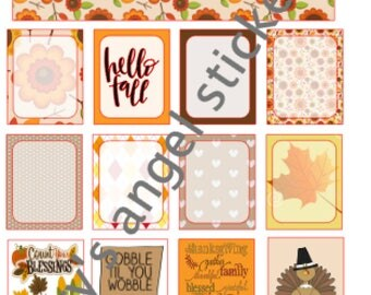Happy Fall Full Sheet (8.5x11)