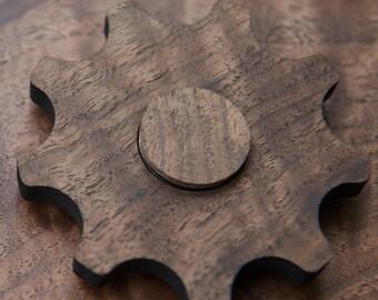 wooden gear fidget spinner
