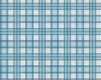 Riley Blake J is for Jeep, Jeep Brand Blue plaid, sold by the Yard