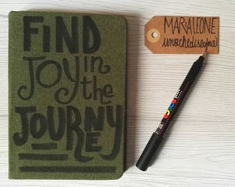 travel notebook with fabric bound hard cover