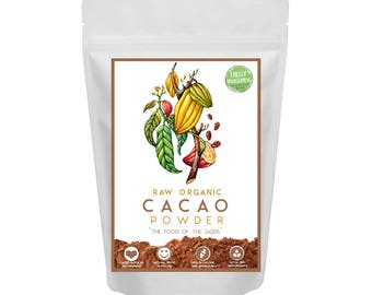 Organic Raw Cacao Powder - decadently dark & Unique in flavour