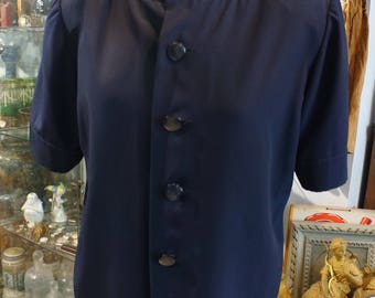 Navy blue blouse size 42 GIVENCHY
