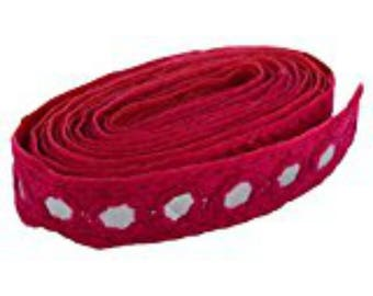 Fashion Mirror Laces in Pink Color for dress/sarees/caps/bags/decorations/ borders, crafts, any many more.. Pack of 2 meters