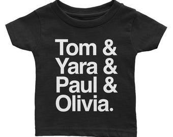 Ampersand Names Tee - Customized Baby & Kids T-shirt - Typographic Design
