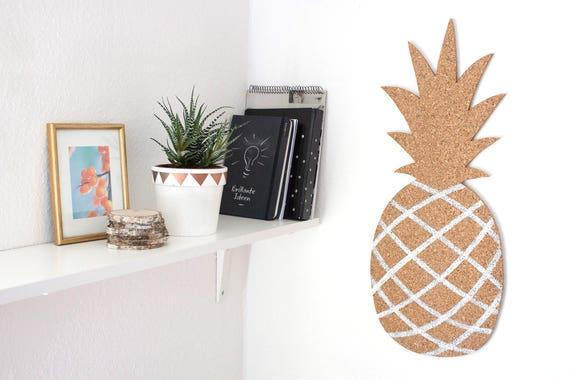Ananas pinnwand aus kork memoboard kork pinnwand einhorn for Pinnwand modern