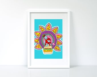 A4 Art Print- Tomato Pizza
