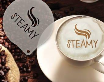 Steamy Coffee Stencil