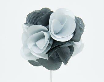 Karen Silver Flower Lapel Pin