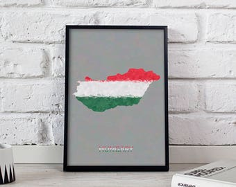 Hungary poster Hungary art Hungary Map poster Gift poster Hungary wall art Hungary wall decor Hungary print