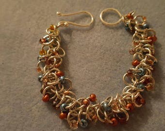 Shaggy Loop Beaded Chainmaille Bracelet