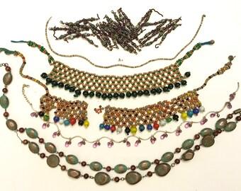 Vintage Broken Necklace Junk Jewelry Lot