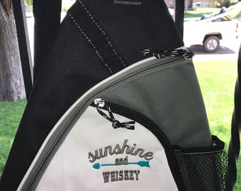 Sunshine and WHISKY sling bag