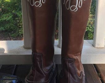 Tall Monogrammed Duck Boots! Various Colors