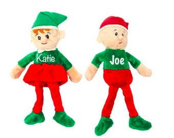Pre-Order Personalized Plush Christmas Elves