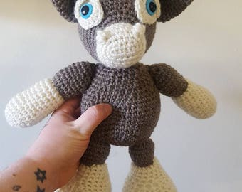 Stuffed cow toy~ bull crochet handmade~ farm animal