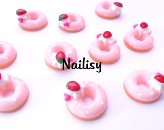 1 cabochon 17mm REF2167 Strawberry donuts