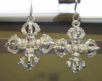 Silver Indian Varjas Earrings