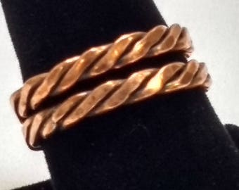 Twisted Copper wire rings, Copper rings, Stackable rings
