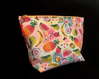 Cosmetic bag * fruits * make-up bag size XL * fruits * colorful/colorful beauty case